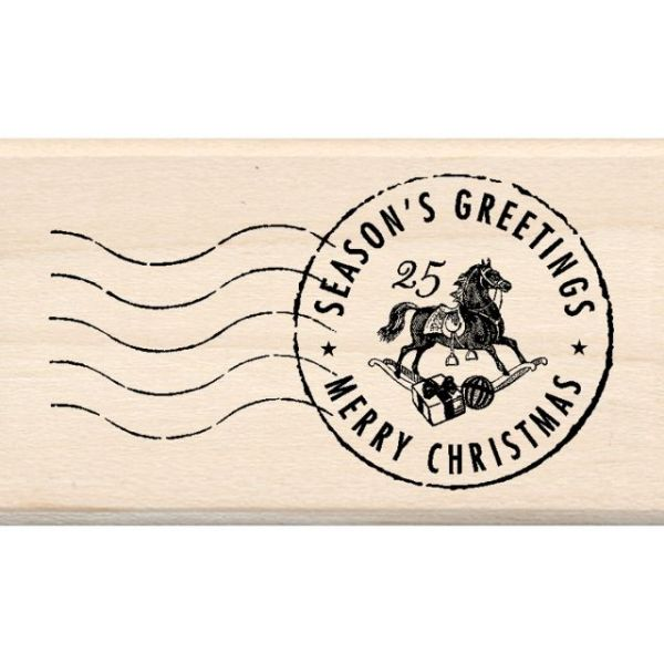 "Inkadinkado Christmas Mounted Rubber Stamp 1.75""X3"""