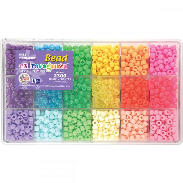 Bead Extravaganza Pastel/Jelly Mix Bead Box Kit
