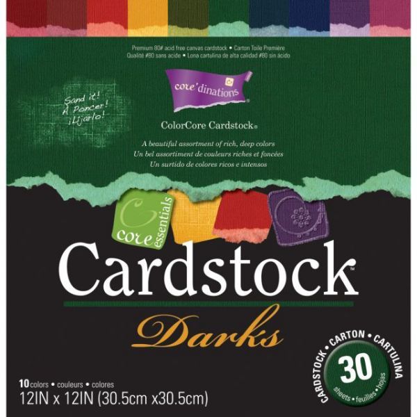 Core'dinations Core Essentials Darks Cardstock Pad