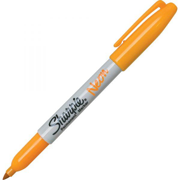Sharpie Fine Point Neon Orange Permanent Markers