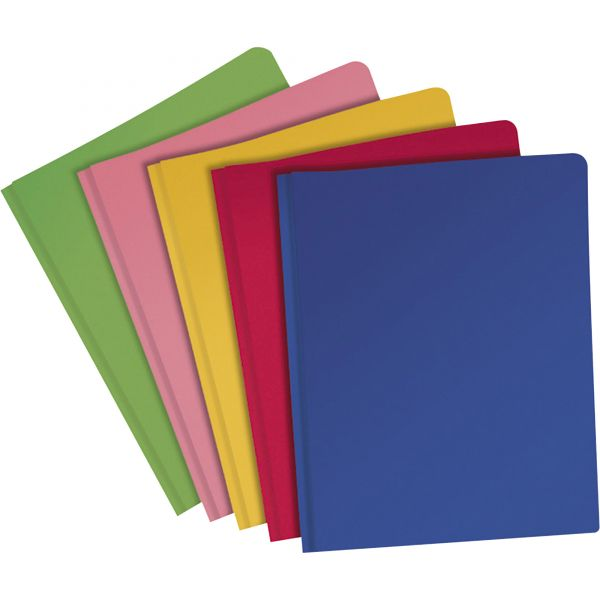 Oxford Fashion PolyPort Twin-Pocket Portfolio, 100-Sheet Capacity, Assorted Colors, 25/Box