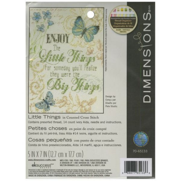 Little Things Mini Counted Cross Stitch Kit