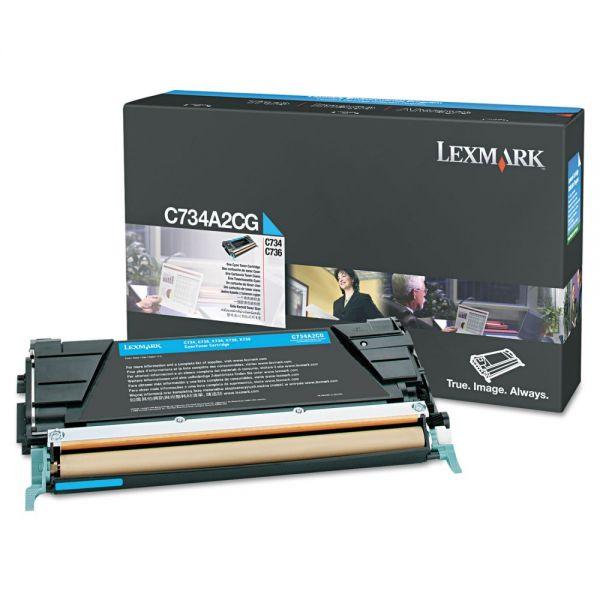 Lexmark C734A2CG Cyan Toner Cartridge
