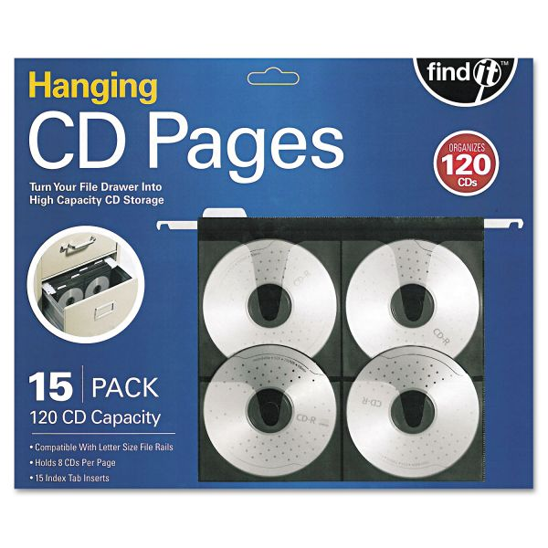 find It Hanging CD Pages, 15/Pack