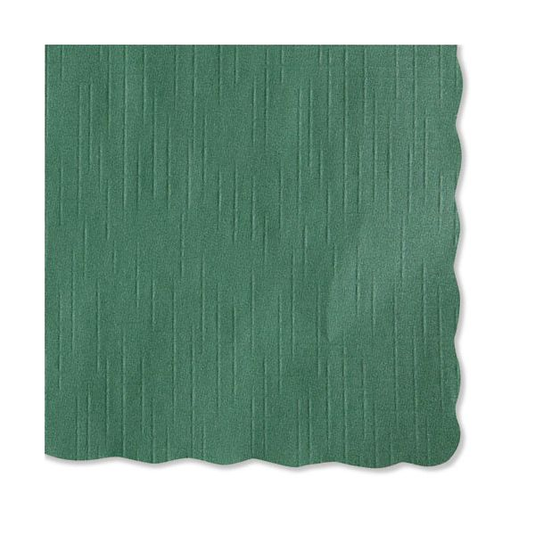 Hoffmaster Solid Color Scalloped Edge Placemats