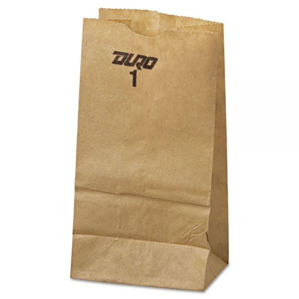General #1 Paper Grocery Bag, 30lb Kraft, Standard 3 1/2 x 2 3/8 x 6 7/8, 500 bags