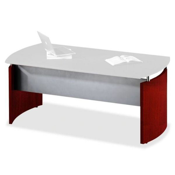 Tiffany Industries Napoli Desk Base With Curved End Panels, 29-1/2w x 1-1/4d x 25-1/4h, Sierra Chry