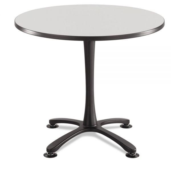 "Safco Cha-Cha Table Top, Laminate, Round, 36"" Diameter, Gray"