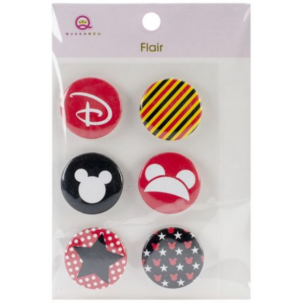 Magic Flair Self-Adhesive Tin Badges 6/Pkg