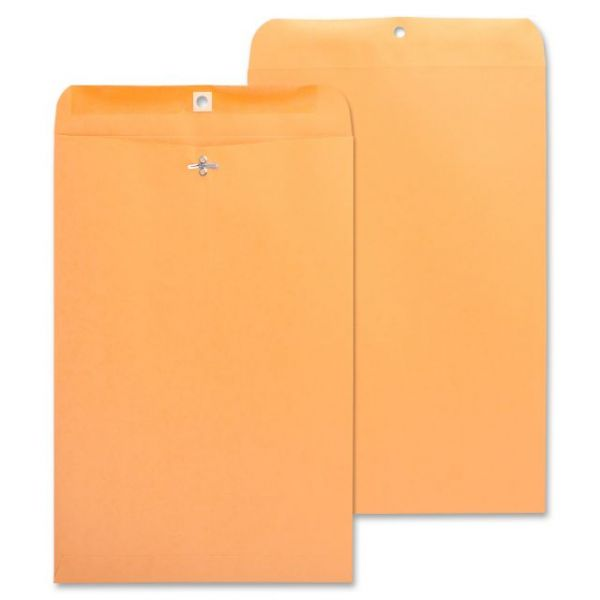 "Business Source Gummed 10"" x 15"" Clasp Envelopes"