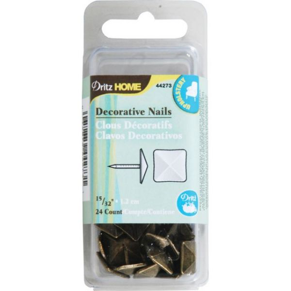 "Upholstery Decorative Nails 15/32"" 24/Pkg"