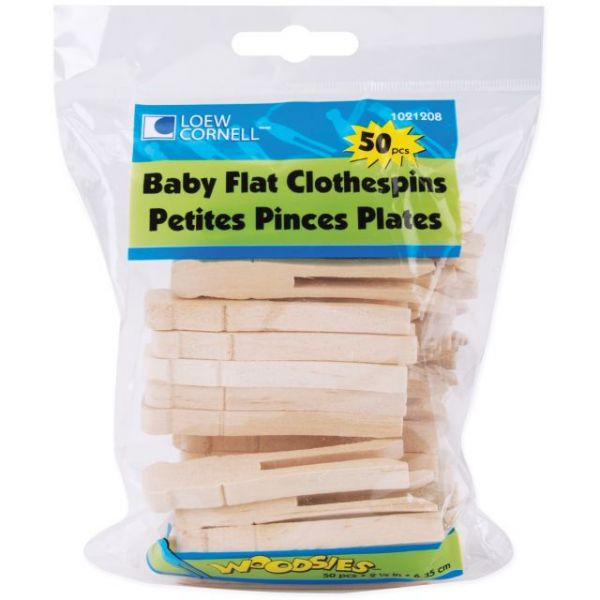 Woodsies Baby Flat Clothespins