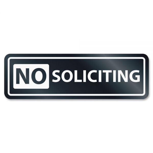 U.S. Stamp & Sign No Soliciting Window Sign