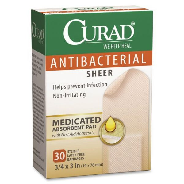 Curad Antibacterial Sheer Bandages