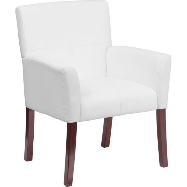 Flash Furniture White Leather Executive Side Chair