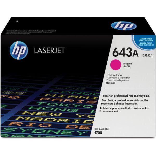 HP 643A, (Q5953A) Magenta Original LaserJet Toner Cartridge