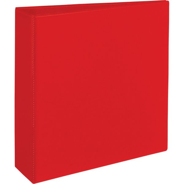 "Avery Heavy-Duty 3-Ring Binder with One Touch EZD Rings, 3"" Capacity, Red"