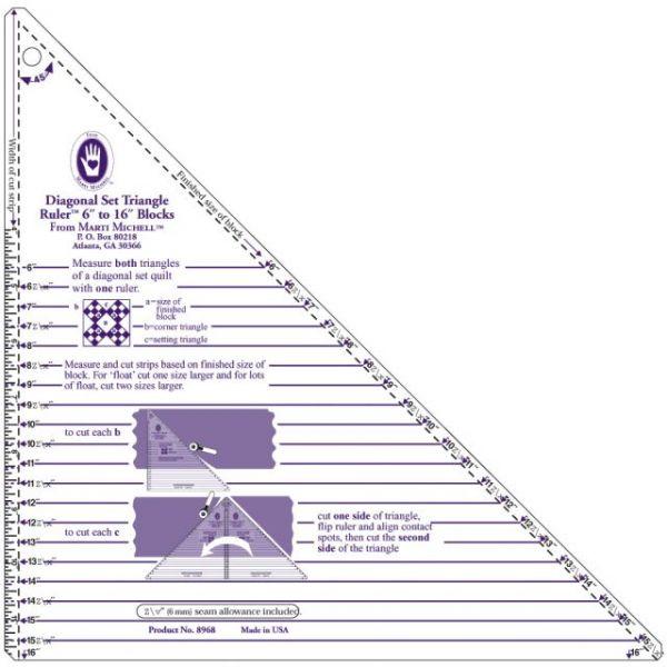 Large Diagonal Set Triangle Ruler