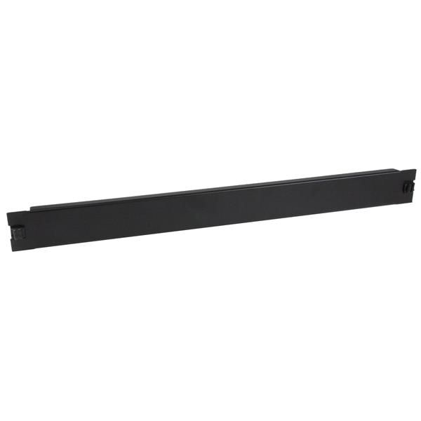 StarTech.com Blanking Panel - 1U - 19in - Tool-less - Steel - Black - TAA Compliant - Blank Rack Panel - Filler Panel