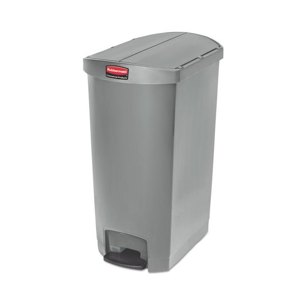Rubbermaid Slim Jim Resin Step-On 18 Gallon Trash Can