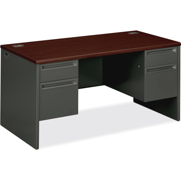 "HON 38000 Series Double Pedestal Desk | 2 Box / 2 File Drawers | 60""W"