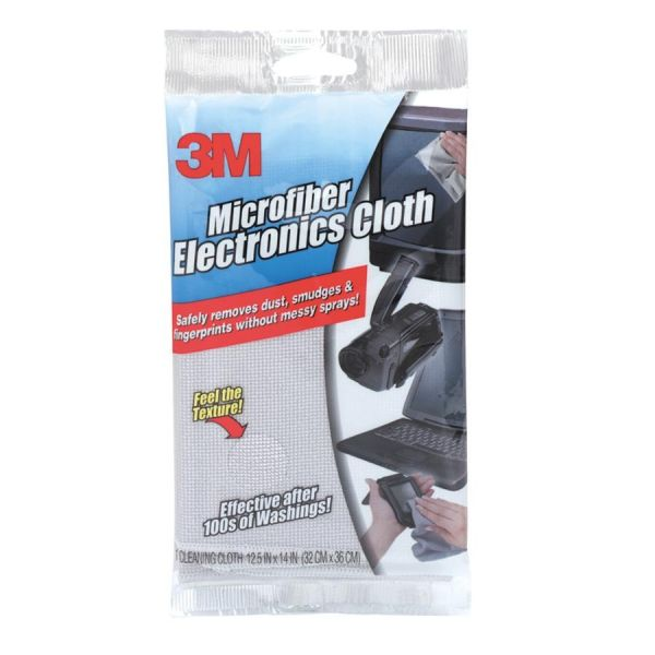 3M Microfiber Electronics Cleaning Cloth, 12 x 14, 1/Each