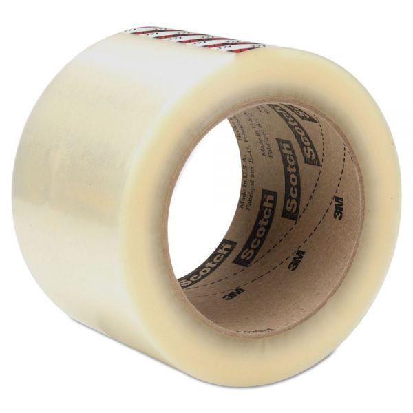 "Scotch Box Sealing Tape, 72 mm x 100 m, 3"" Core, Clear, 24/Carton"