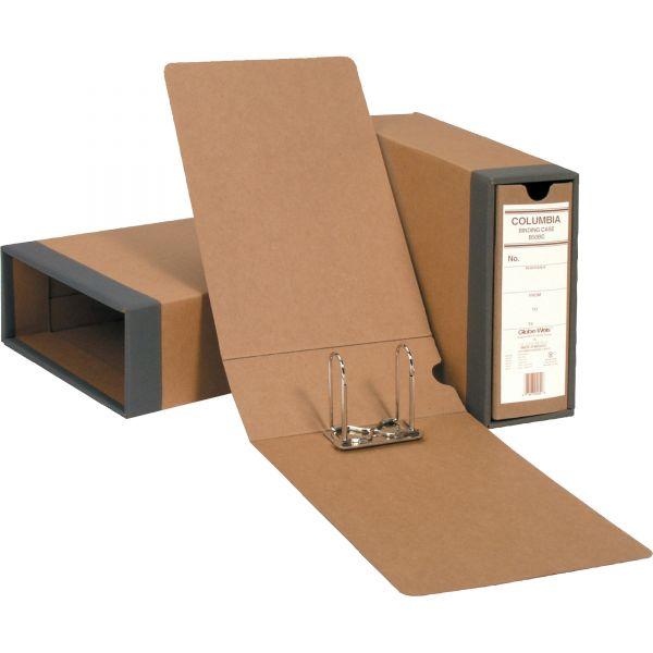 "Globe-Weis COLUMBIA Recycled Binding Cases, 2 1/2"" Cap, 11 x 8 1/2, Kraft"