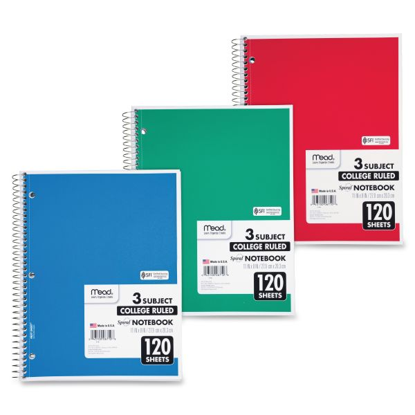 Mead 3-Subject Notebook