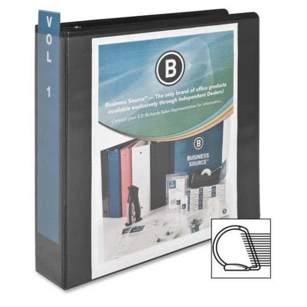 "Business Source Basic 2"" 3-Ring View Binder"