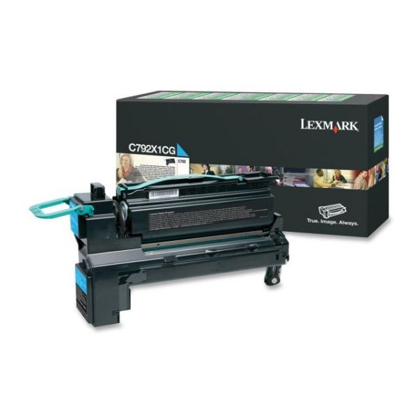 Lexmark C792X1CG Cyan Extra High Yield Return Program Toner Cartridge