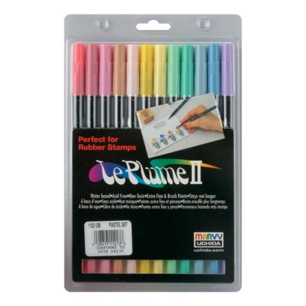 Le Plume II Double-Ended Markers 12/Pkg