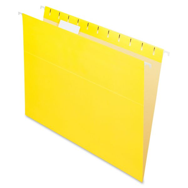 Pendaflex Colored Hanging Folders, 1/5 Tab, Letter, Yellow, 25/Box