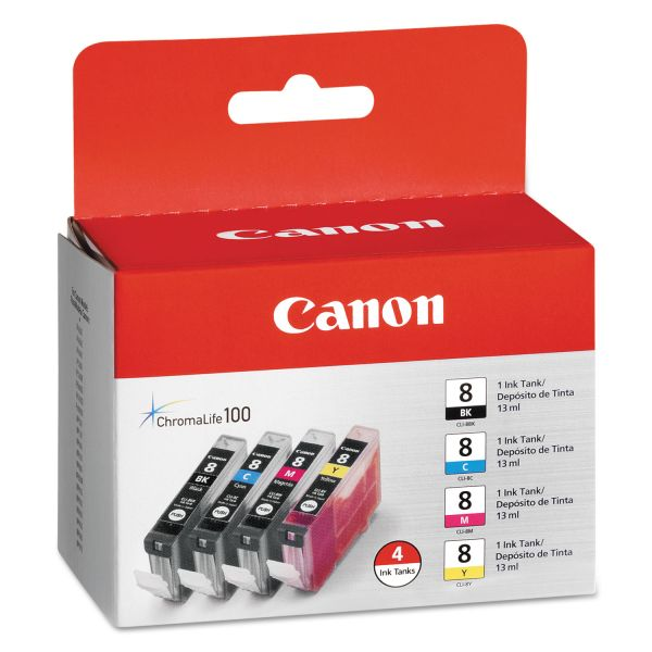 Canon CLI-8 Black/Color Ink Cartridge Value Pack