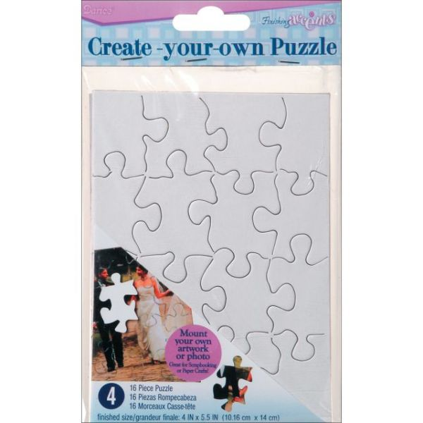 "Create Your Own Puzzle 16 Pieces 4""X5"" 4/Pkg"