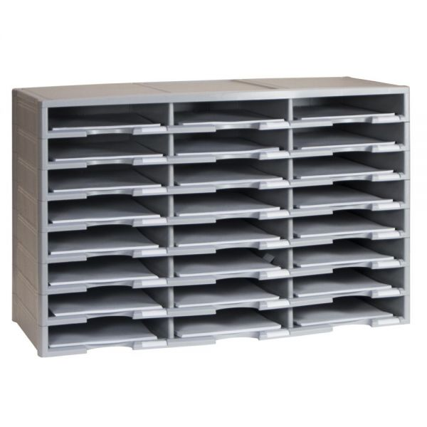Storex 24-Compartment Literature Organizer