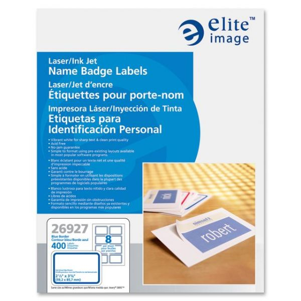 Elite Image Adhesive Name Tags