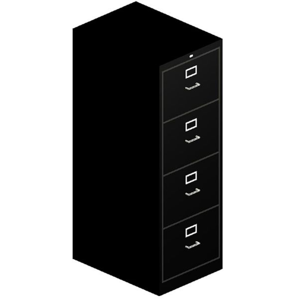 HON 510 Series 4 Drawer Locking Vertical Filing Cabinet