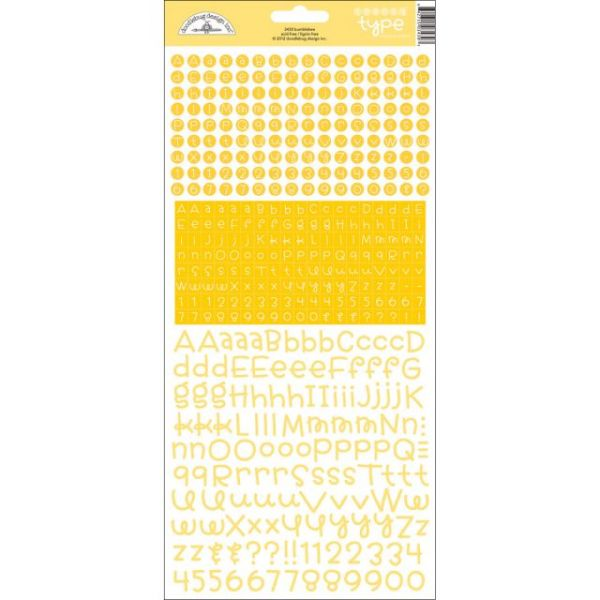 Teensy Type Cardstock Alphabet Stickers