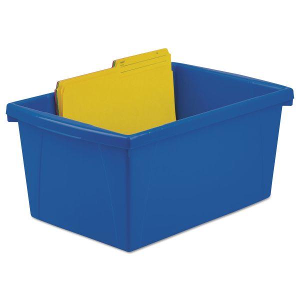 Storex Storage Bins, 10 5/8 x 15 5/8 x 8, 5 1/2 Gallon, Assorted Color, Plastic