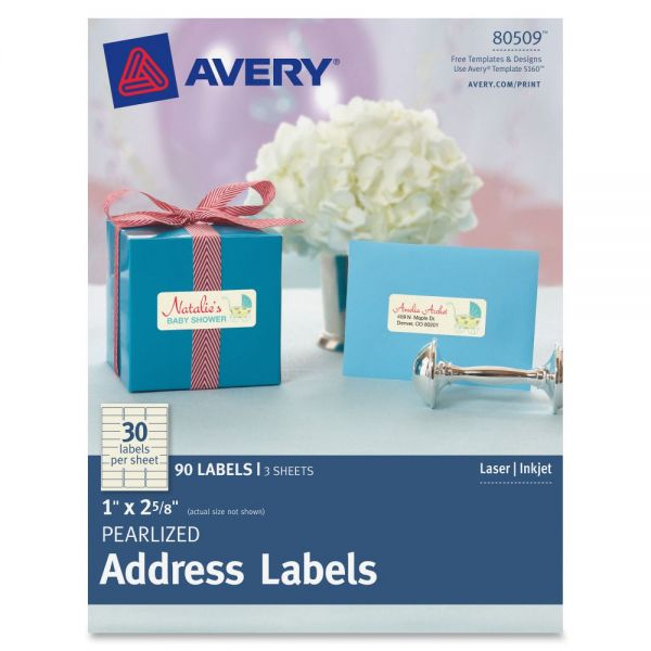 Avery Pearlized Ivory Address Labels