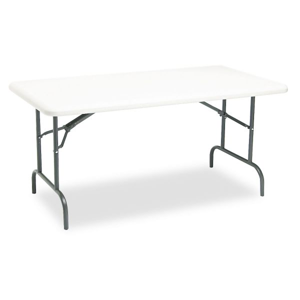 Iceberg IndestrucTables Too 1200 Series Resin Folding Table, 60w x 30d x 29h, Platinum