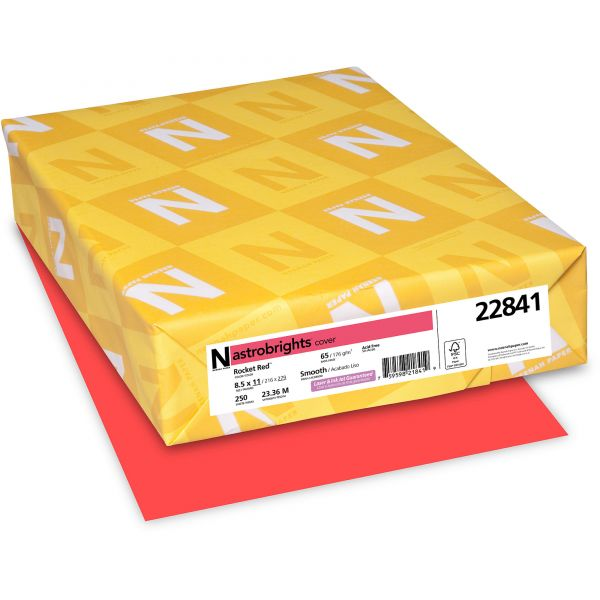 Neenah Paper Astrobrights Rocket Red Colored Card Stock