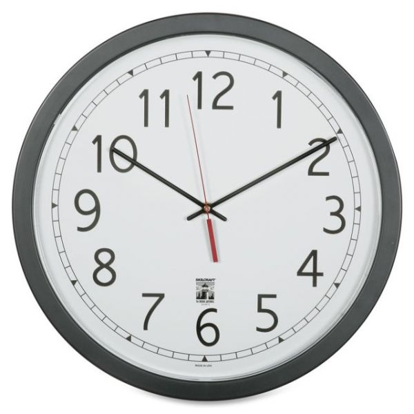 SKILCRAFT Round Self Set Wall Clock