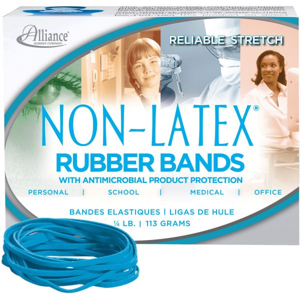 Alliance Rubber #33 Antimicrobial Latex-Free Rubber Bands (1/4 lb)