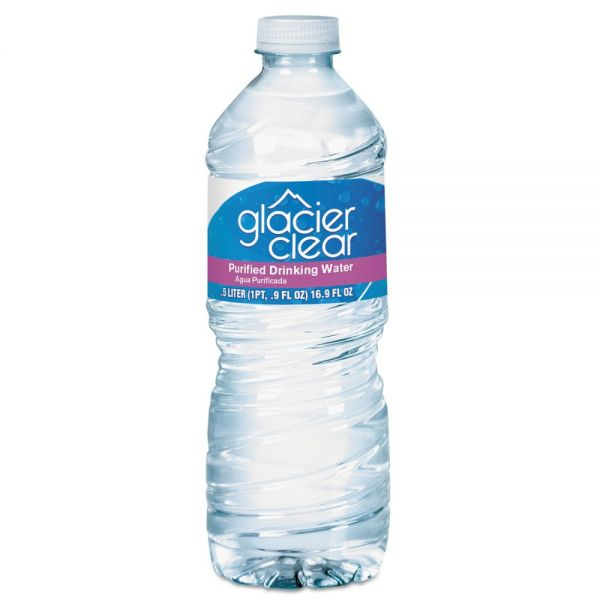 General Supply Purified Bottled Water, 0.5 L Bottle, 24/Carton