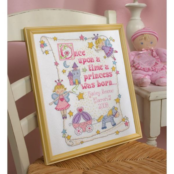Bucilla Princess Birth Record Counted Cross Stitch Kit