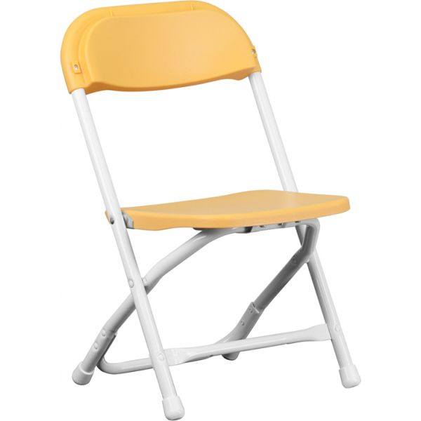 Flash Furniture Kids Yellow Plastic Folding Chair