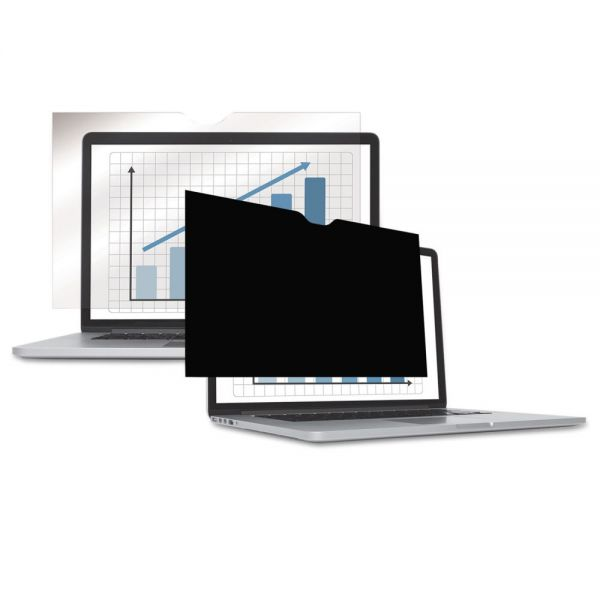 "Fellowes PrivaScreen Blackout Privacy Filter for 14.1"" Widescreen LCD/Notebook, 16:10"