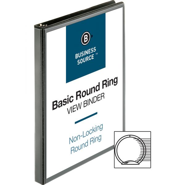 "Business Source 1/2"" 3-Ring View Binder"